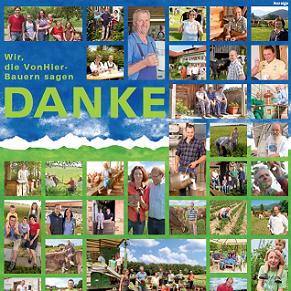"""Textbeispiel für Anzeigen, hier Anzeige Tageszeitung """"Bauern sagen Danke"""" - Langtext"""