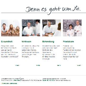 Text und Konzept für die Seite einer Arztpraxis im Internet www.prof-sterk.de Arbeitsbeispiel von textig.de